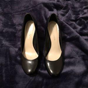 Franco Sarto Black Wedge Heels Size 9